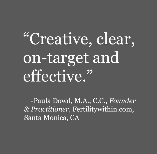 Creative, clear, on-target and effective.